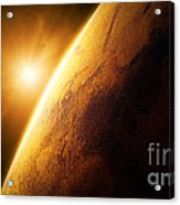 Planet Mars Close-up With Sunrise Acrylic Print