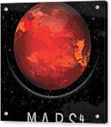 Planet Mars Acrylic Print