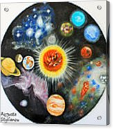 Planets And Nebulae In A Day Acrylic Print