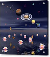 Planets Of The Solar System Surrounded Acrylic Print