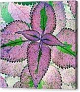 Plant Pattern - Photopower 1212 Acrylic Print