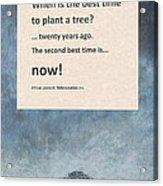 Plant Trees Acrylic Print