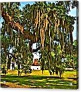 Plantation Oil Acrylic Print