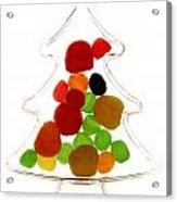 Plastic Christmas Tree Containing Sweet Acrylic Print