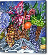 Plastic Fruits And Flowers Acrylic Print