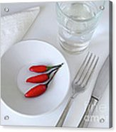 Plate Of Chilies  Acrylic Print