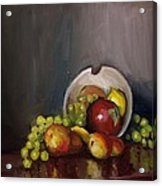 Plate With Fruit Acrylic Print