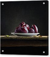 Plate With Plums Acrylic Print