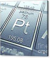 Platinum Chemical Element Acrylic Print