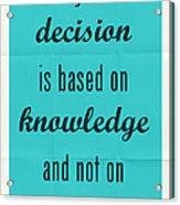 Plato Quote 002 Acrylic Print