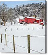 Platt Farm Square Acrylic Print by Bill Wakeley