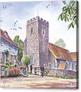 Plaxtol Church Wedding Acrylic Print