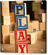 Play - Alphabet Blocks Acrylic Print
