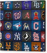 Play Ball Recycled Vintage Baseball Team Logo License Plate Art Acrylic Print
