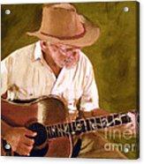 Play Guitar Play Acrylic Print by Sharon Burger