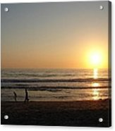 Play On California Beach Acrylic Print