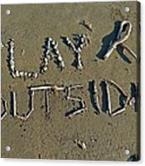 Play Outside Acrylic Print