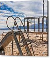 Play Time Is Over Slide Playground Acrylic Print