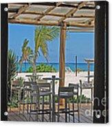 Playa Blanca Restaurant Bar Area Punta Cana Dominican Republic Acrylic Print