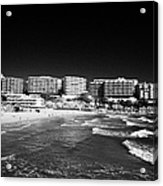 Playa Cappellans And Salou Waterfront Properties On The Costa Dorada Catalonia Spain Acrylic Print