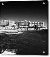 Playa De Cappellans And Salou Waterfront Properties On The Costa Dorada Catalonia Spain Acrylic Print