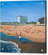 Playa de la Barceloneta Acrylic Print