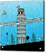Playful Tower Of Pisa Acrylic Print by Gianfranco Weiss