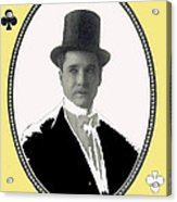 Playing Card Of Actor And Director Romain Fielding Unknown Date-2008 Acrylic Print