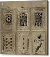 Playing Cards Patent Acrylic Print