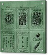 Playing Cards Patent Green Acrylic Print