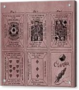 Playing Cards Patent Red Acrylic Print