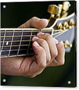 Playing Guitar Acrylic Print