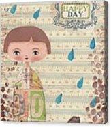 Playing In The Rain Acrylic Print