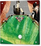 Playing Pool My Way Acrylic Print