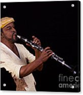 playing the Clarinet Acrylic Print
