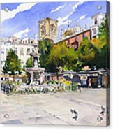 Plaza Bib Rambla Acrylic Print