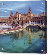 Plaza De Espana Seville II Acrylic Print