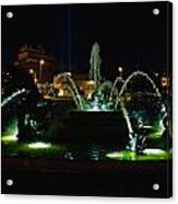 Plaza Fountain Acrylic Print