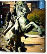 Plaza Horse Acrylic Print