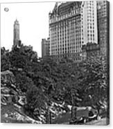 Plaza Hotel From Central Park Acrylic Print