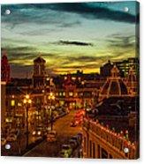Plaza Lights At Sunset Acrylic Print