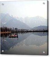 Pleasant View Of Dal Lake- Kashmir- India- Viator's Agonism Acrylic Print by Vijinder Singh