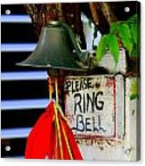 Please Ring Bell Acrylic Print