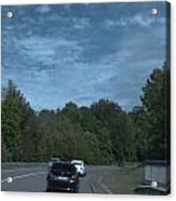 Pleasure Drive Paris Roads Tree Line And Wonderful Skyview Acrylic Print