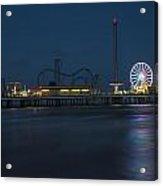 Pleasure Pier At Night  Acrylic Print