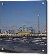Pleasure Pier At Sunset Acrylic Print