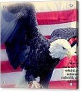 Pledge Allegiance Acrylic Print