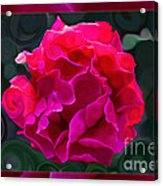 Plentiful Supplies Of Pink Peony Petals Abstract Acrylic Print