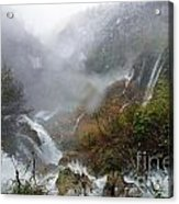 Plitvice Lakes In Winter 4 Acrylic Print
