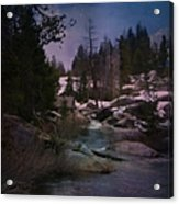 Plumas River In Sierras Acrylic Print